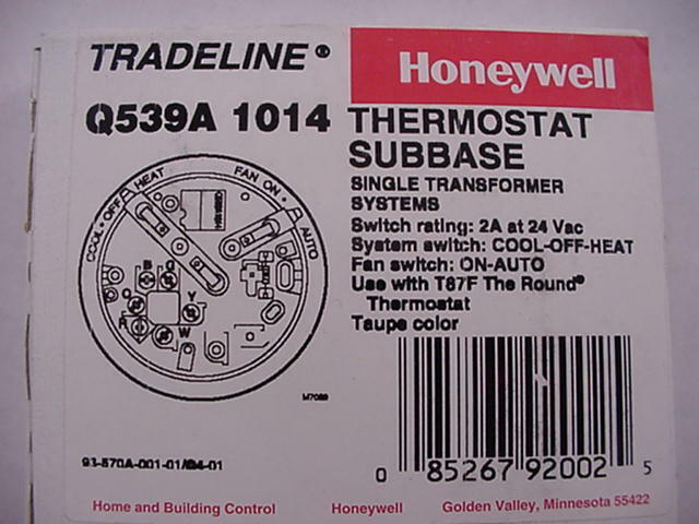 on old honeywell thermostat wiring diagram q539a