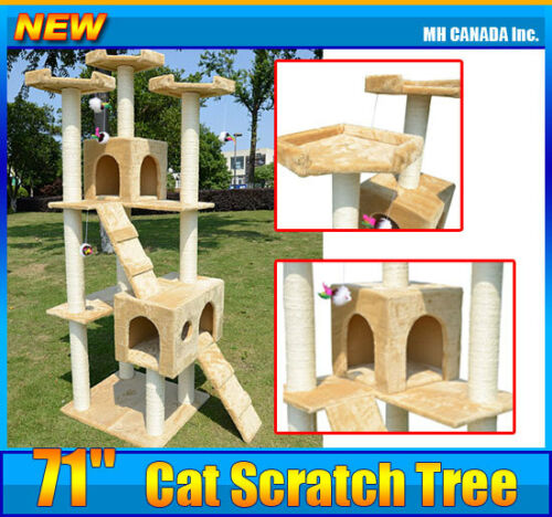 "Hot 71"" Cat Scratch Tree Post Pet house Condo Furniture Scratchers in Pet Supplies, Cat Supplies, Furniture & Scratchers 