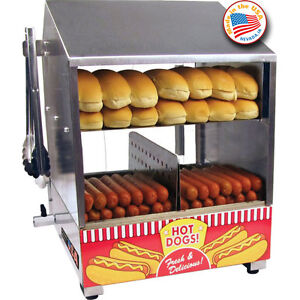 hot dog bun steamer cooker countertop hotdog concession machine warmer server ebay. Black Bedroom Furniture Sets. Home Design Ideas