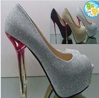 Hot!! High Heels Party Girl Glitter Platform Open Toe Women Shoes US5-9 #06 in Clothing, Shoes & Accessories, Women's Shoes, Heels | eBay