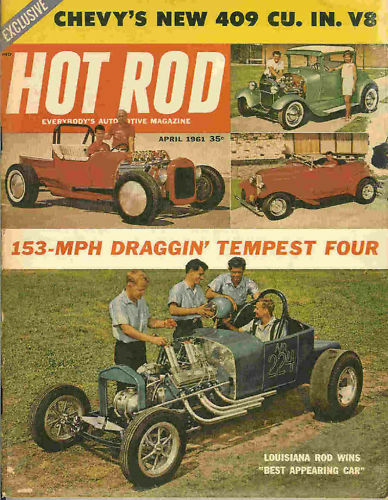 Hot Rod 1961 Apr Chevy Drag Racing Go Kart Chevy 409