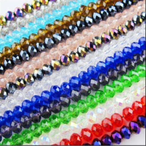 Hot Sale Multicolor Wholesale 4x6mm 98pcs Crystal Faceted Rondelle Loose Beads in Crafts, Beads & Jewelry Making, Beads, Pearls & Charms | eBay
