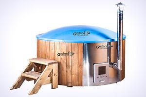 hot tub pot badetonne badefass badezuber badebottich mit gfk einsatz whirlpool ebay. Black Bedroom Furniture Sets. Home Design Ideas