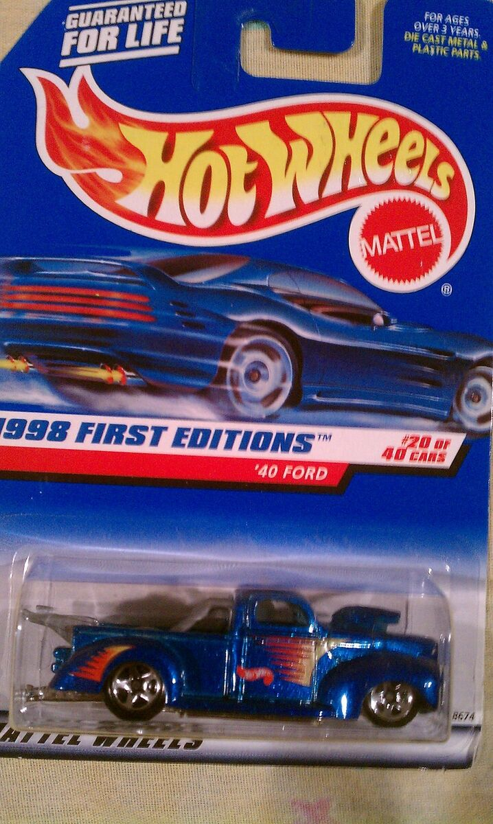 Hot Wheels 1998 First Editions #20 40 Ford Truck Blue New 1/64 Diecast