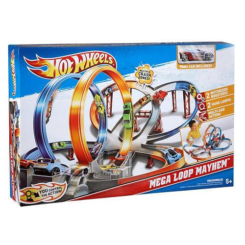 Hot Wheels Mega Loop Mayhem Track Set