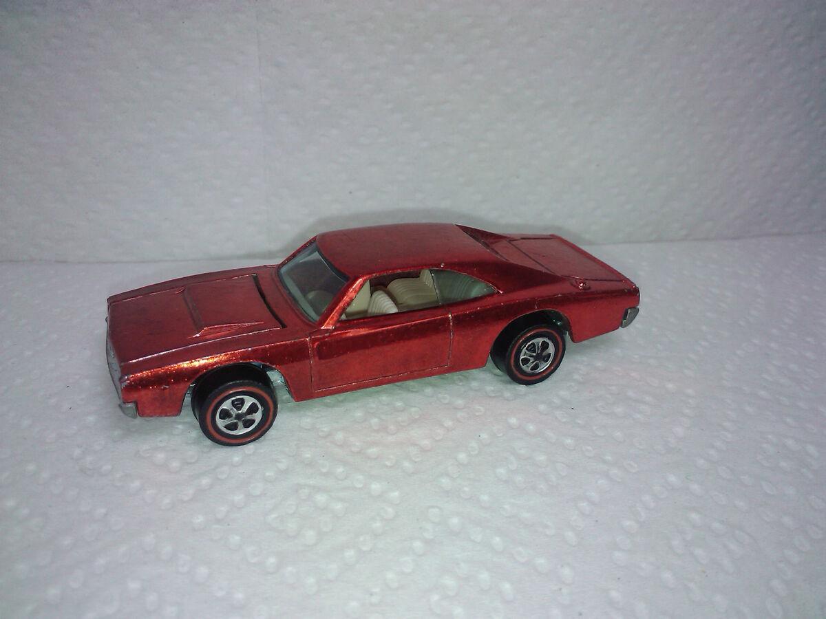 Hot Wheels Redline Dodge Charger Red Near Mint