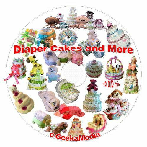 How to Make A Diaper Cake and Baby Shower Crafts Book Video Tutorials