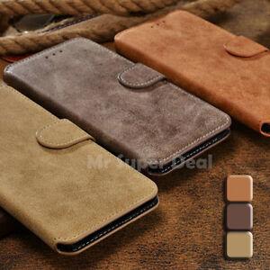 Huawei-P8-Handy-Leder-Synthetisch-Tasche-Etui-Flip-Case-Kartenfach-Back-Skin