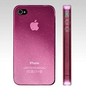 Huelle-Cover-fuer-Apple-iPhone-4-nicht-4S-viel-Zubehoer-Pink-Glitzereffekt
