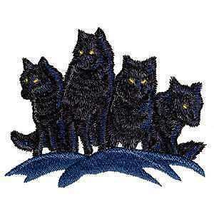 Huge Night Wolf Pack Shadow Moon Wolves Iron on Patch