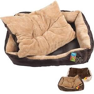 Hundebett-mit-Kissen-Hundekorb-Hundesofa-Hunde-Katzen-Tier-Bett-Katzenbett-S-XL
