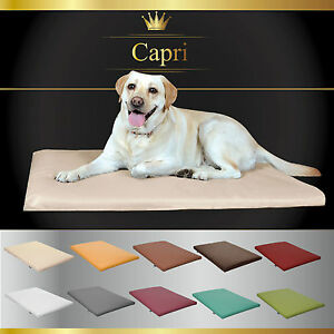 Hundematte-Hundebett-Hundekissen-Kunstleder-034-CAPRI-034-14-Farben-3-Groessen