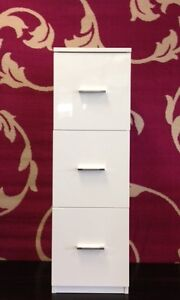 Bathroom Storage Units on About Hygena 3 Drawer White Gloss Bathroom Storage Unit Brand New