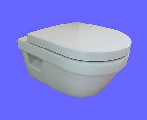 hygiene wand wc tiefsp ler weiss villeroy boch kein sp lrand m sitz softclose ebay. Black Bedroom Furniture Sets. Home Design Ideas