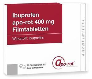 ibuprofen apo rot 400 mg filmtabletten 20st pzn 10316046. Black Bedroom Furniture Sets. Home Design Ideas