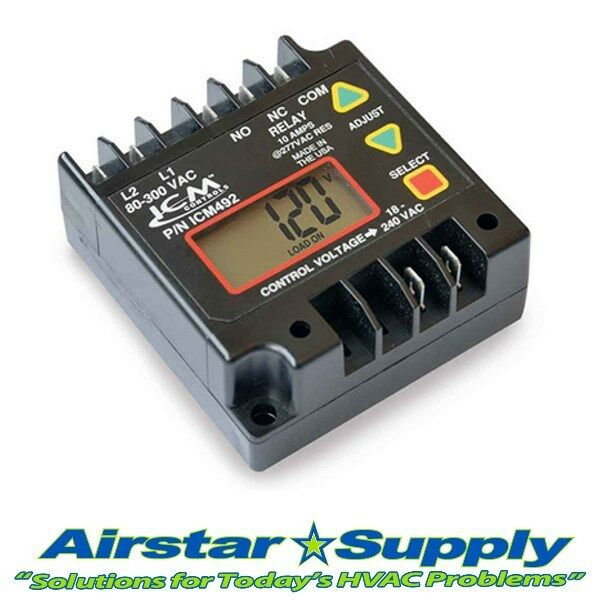 Icm Icm492 Motor Protection Control Line Voltage Monitor 24 240 Volts Ebay