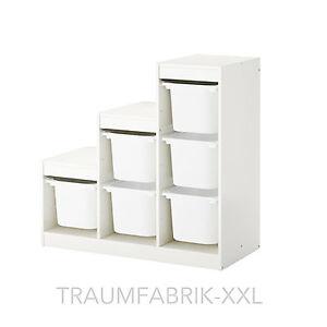 ikea aufbewahrung mit boxen f r spielzeug kinder regal rahmen wei ordnung neu ebay. Black Bedroom Furniture Sets. Home Design Ideas