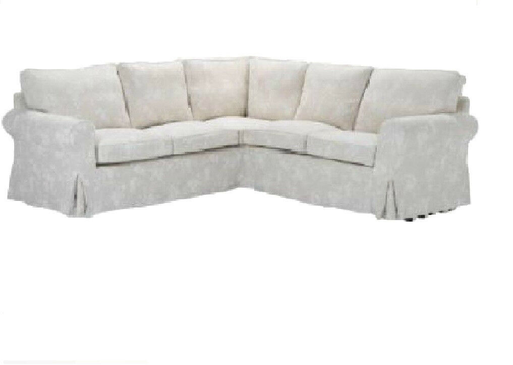 IKEA Brand New Ektorp Corner Sofa Slipcover Redeby Beige 2 x 2 Sectional Cover on PopScreen