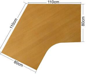 Ikea effektiv tischplatte in buche 110x110x80x80cm for Schreibtischplatte buche