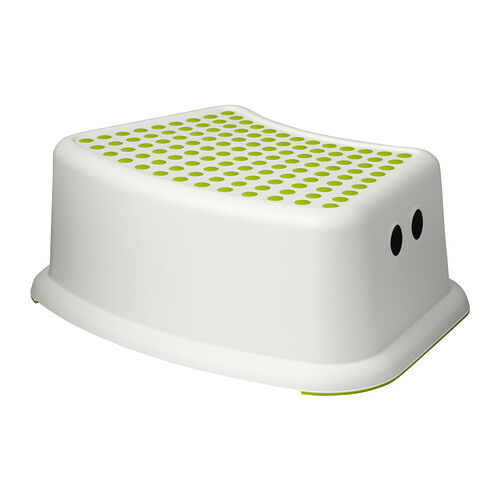Ikea forsiktig childrens kids kitchen bathroom step stool toilet training ebay - Tabouret plastique ikea ...