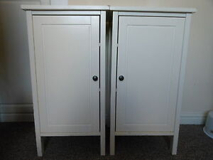 ikea hemnes white bedside cabinets tables shabby chic 163 70 each at ikea ebay