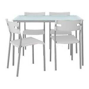 IKEA Melltorp Laver Dining Room Table And Chair Set Used For 2 Weeks Looks Ne