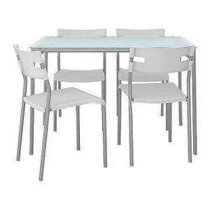 Details About IKEA MELLTORP LAVER DINING ROOM TABLE AND CHAIR SET USED