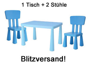 ikea mammut kindersitzgruppe kindertisch 2 kinderst hle blau kinderm bel neu ebay. Black Bedroom Furniture Sets. Home Design Ideas
