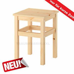 ikea massivholz holzhocker holz sitzhocker stuhl hocker massiv kiefer neu ebay. Black Bedroom Furniture Sets. Home Design Ideas