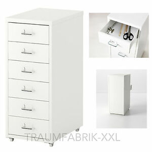 ikea schubladenelement rollcontainer b roschrank schrank schubladenschrank wei ebay. Black Bedroom Furniture Sets. Home Design Ideas