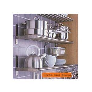 ikea stainless steel kitchen pots pans rack wall shelf