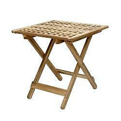 Folding side table ikea skoghall side table acacia 50x50 for Wooden folding table ikea