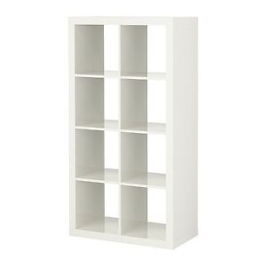 ikea expedit regal 8 f cher weiss 79 x 149 x 39cm b cheregal wandregal ebay. Black Bedroom Furniture Sets. Home Design Ideas
