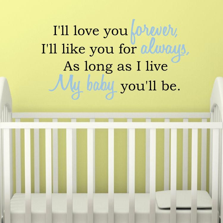 Nursery wall decor quotes : Baby nursery quotes quotesgram