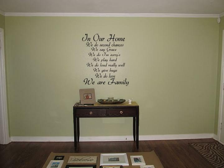 """In Our Home We do Vinyl Wall Art Decal Family Quote Lettering Words 24"""" x 36"""""""