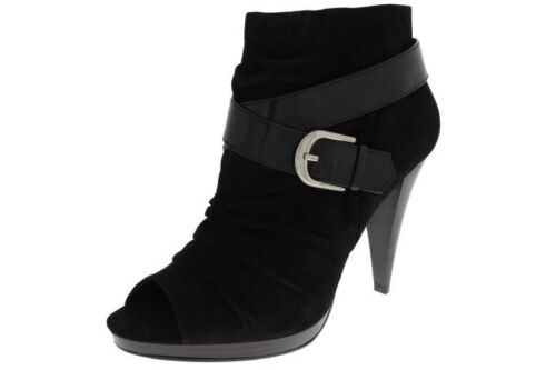 INC NEW Terika Black Suede Ruched Open-Toe Heels Suede Booties Shoes 9 BHFO in Clothing, Shoes & Accessories, Women's Shoes, Boots   eBay