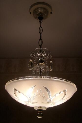 INCREDIBLE 30's ART DECO Ceiling Light Fixture CHANDELIER in Antiques, Architectural & Garden, Chandeliers, Fixtures, Sconces | eBay