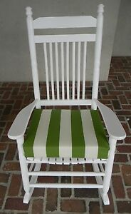 INDOOR OUTDOOR ROCKER ROCKING CHAIR SEAT CUSHION PAD CHOICE OF STRIPES 17 X15