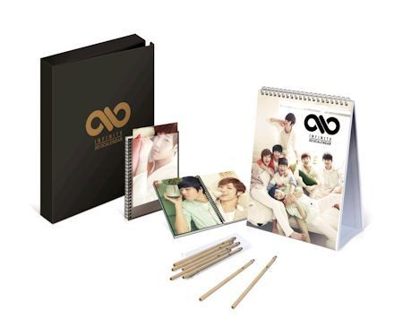 INFINITE 2013 SEASONS GREETING OFFICIAL CALENDAR + NOTE + PENCIL BOX SET in Entertainment Memorabilia, Music Memorabilia, Other | eBay