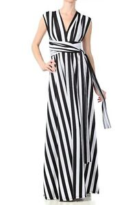 Convertible Dress on Infinity Wrap Multi Way Convertible Maxi Dress Long Black White