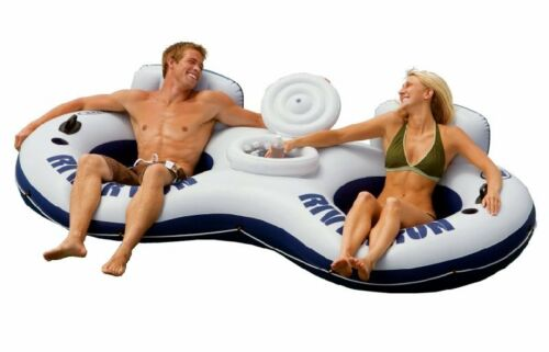 INTEX River Run II 2-Person Water Tube Float w/ Cooler in Sporting Goods, Water Sports, Kayaking, Canoeing & Rafting | eBay