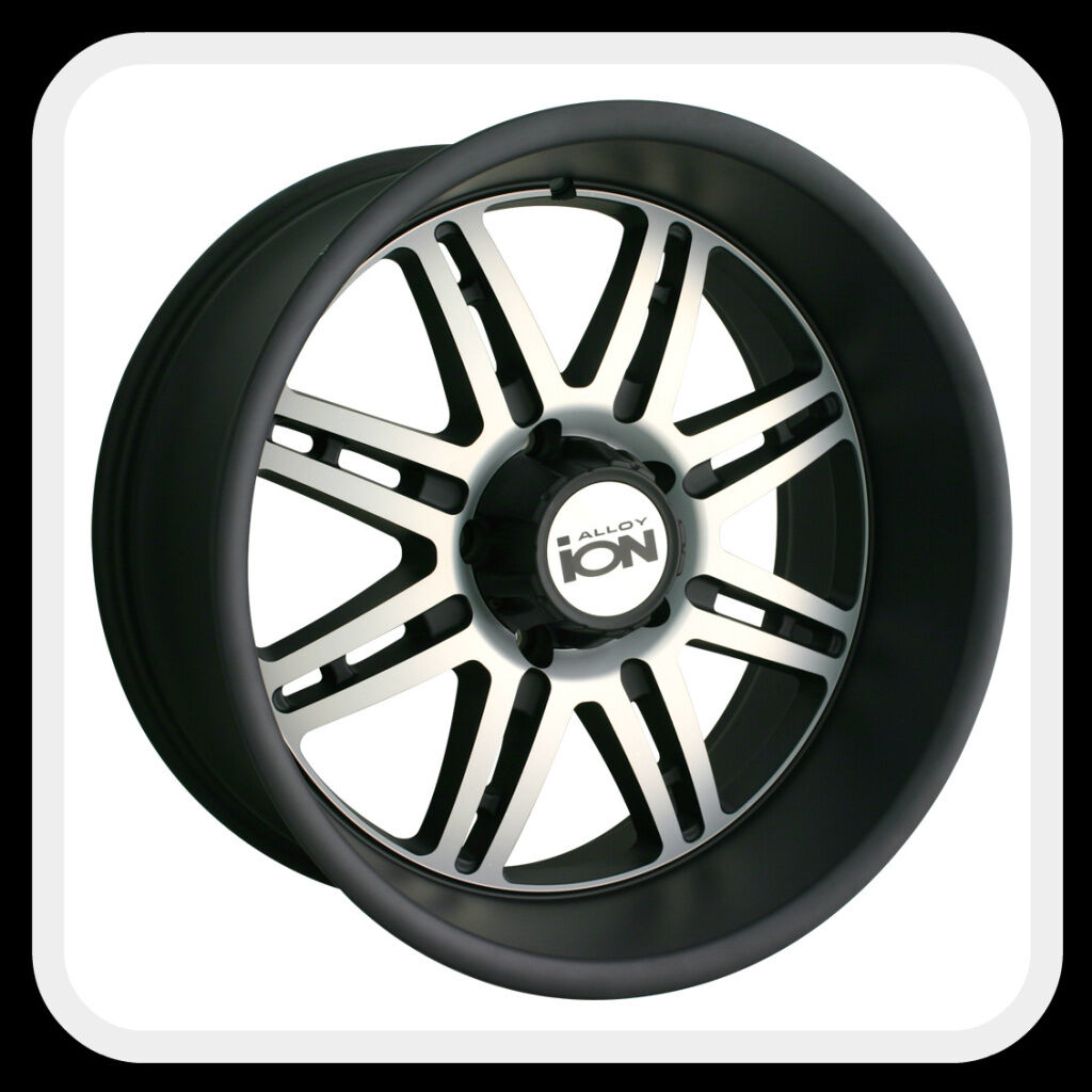 ION Alloys style 183 Wheels Rims 18x9, 8x6.5 Matte Black w/ machine