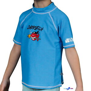 IQ-Kids-UV-Shirt-Swordfish-Kinder-green-blue-50-Lichtschutzfaktor