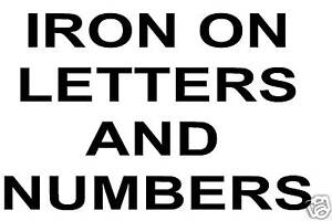 iron on letters numbers black 40p per letter ebay With iron on letters and numbers for shirts