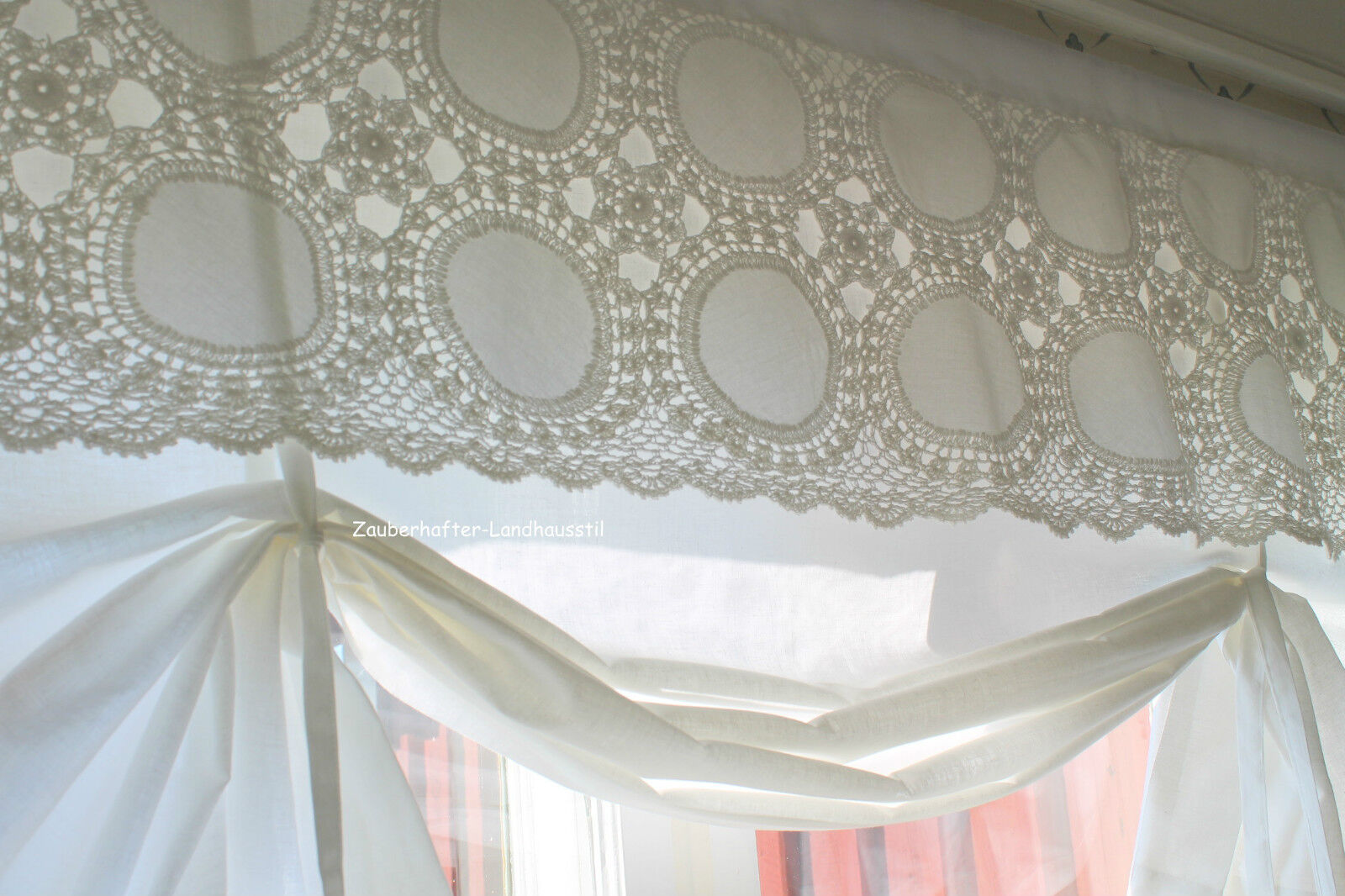 isabella scheiben raff gardine 100 120 140 160 shabby chic landhausstil curtain ebay. Black Bedroom Furniture Sets. Home Design Ideas