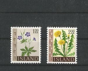 ISLAND-1960-FREIMARKEN-BLUMEN