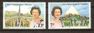 ISLE OF MAN # 154-5 MNH VISIT QUEEN ELIZABETH II