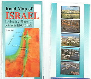 ISRAEL ROAD MAP, Holy Land inc.Jerusalem,Tel Aviv,Haifa in Travel, Maps, Other | eBay