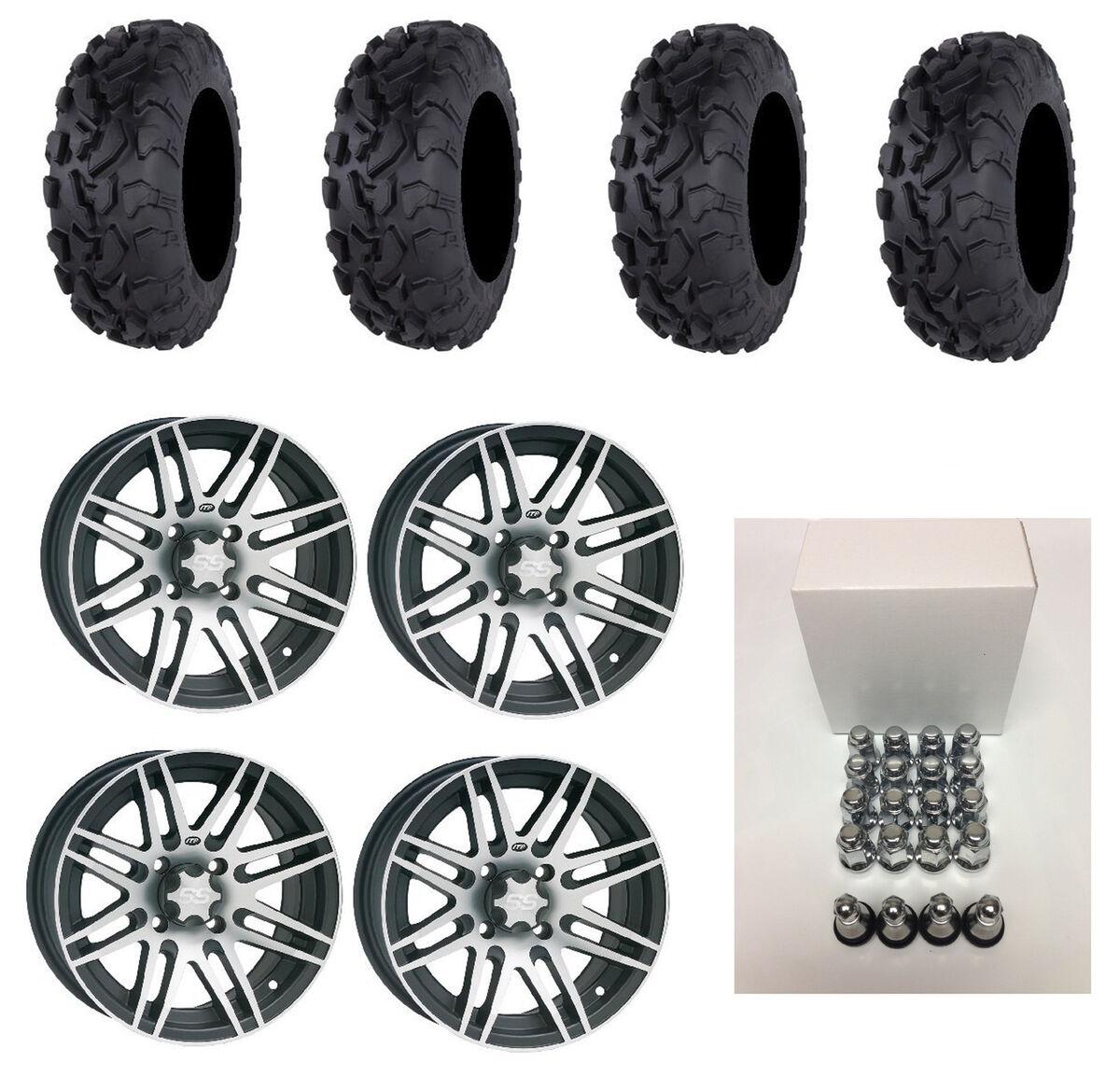 ITP SS316 14X7 Wheels Black Machined SR439 30x10 14 Bajacross Tires Arctic Cat