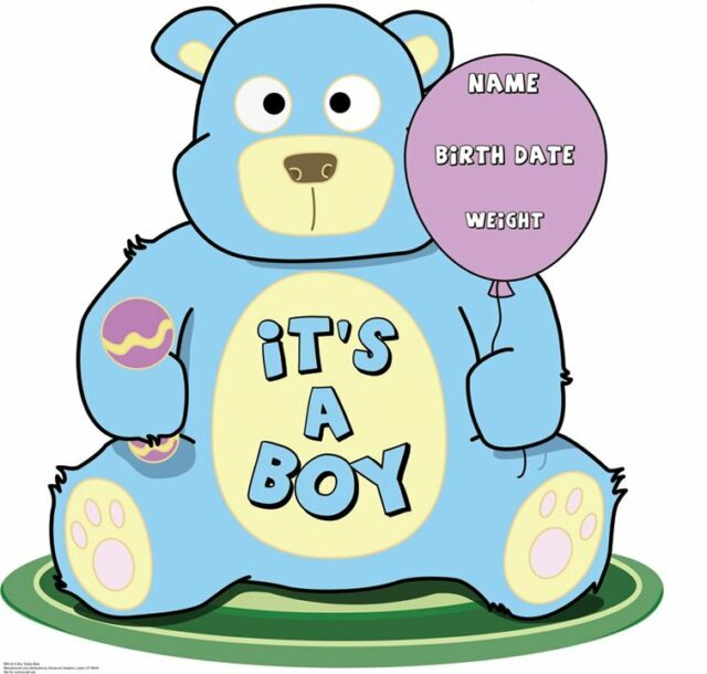 It 39 s a boy baby shower party decorations cardboard standup for Baby shower decoration cutouts